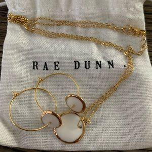 Rae Dunn Necklace & Earrings